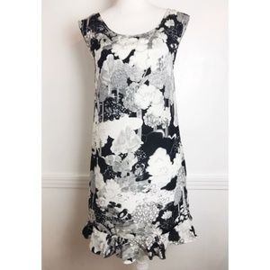 Moulinette Soeurs (Anthro) Black White Silk Dress